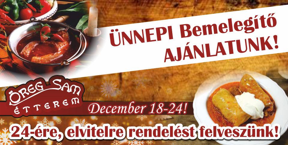 Ünnepi bemelegítő ajánlatunk December 18-24.